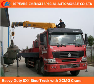 Heavy Duty 12 Wheel Sino Truck with XCMG Crane Mounted Crane Truck pictures & photos