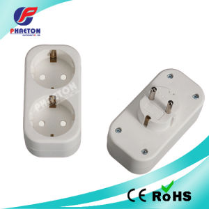 Europe Plug to 2 Way Europe Socket Adapter pictures & photos