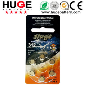 1.4V Zinc Air A312 Battery (A10/A13/A312/A675) pictures & photos