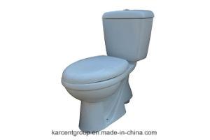 Two Piece Ceramic Toilet Washdown Toilet Water Closet Wc Ek201 pictures & photos