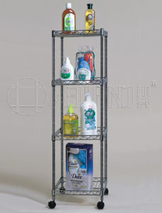 Fashionable Adjustable Metal Wire Bathroom Corner Rack pictures & photos