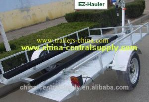Factory Made Utility Galvanized 2.5X1.5m Golf Cart and Jet Ski Trailer (GCT010AB) pictures & photos