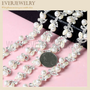 Pearl and Crystal Rhinestone Cup Chain pictures & photos