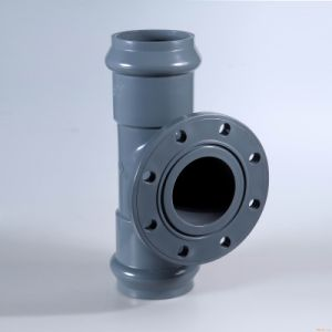 UPVC Tee with Flange (M/F) Pipe Fitting DIN Standard pictures & photos