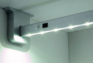 Wardrobe Hanging Rail with Battery Powder Sensor Switch in China pictures & photos