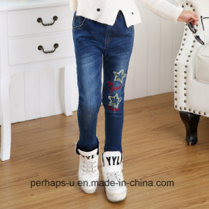 Wholesale High Quality Kid′s Clothes Girl Denim Jeans pictures & photos