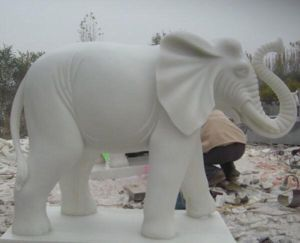 White Elephant Marble Stone Garden Decoration White Elephant Carving Statue Sculpture pictures & photos
