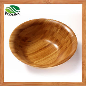 Round Bamboo Salad Bowl Set pictures & photos