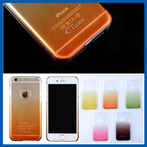 Slim Clear Gradual Change Back Cases for iPhone 6 Plus pictures & photos