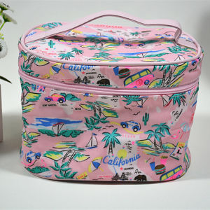 2016 Summer Soft Cotton Short Handle Cosmetic Case for Girls pictures & photos