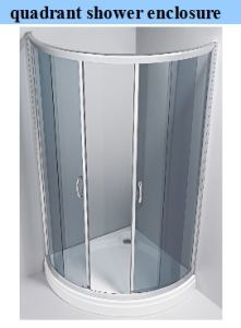Factory of 6mm (1/4′′) Tempered Glass Shower Enclosure / Shower Cabin pictures & photos