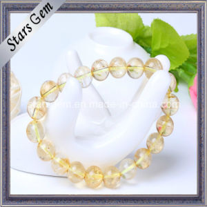 Good Quality Yellow Quartz Beads with Hole Bracelet pictures & photos