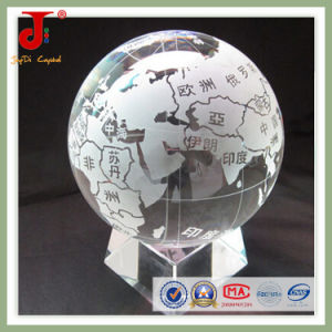 Clear Sandblest Map on The Ball with Base (JD-CB-103) pictures & photos