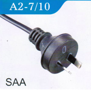 SAA Power Cord with 2 Pin Australia Plug (A2-7/10) pictures & photos