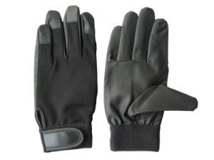 PU Palm Spandex Back Mechanic Glove-7401 pictures & photos