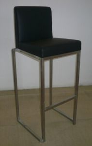 Modern Stainless Steel Bar Stool with PU Seat pictures & photos