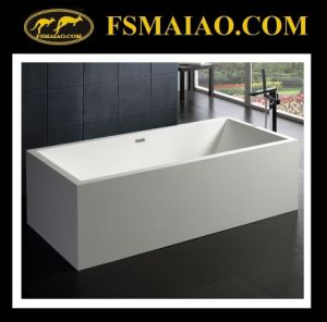 Large Size Rectangle Freestanding Bathtub Solid Surface (BS-8614) pictures & photos