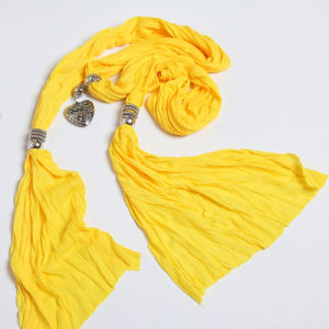 The New Woman Pure Cotton Polyester Fiber Color Scarf Shawl pictures & photos