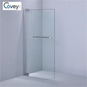 Elegant Reversible Designed Of 8mm/10mm Tempered Glass Bathtub Screen (A KW016)