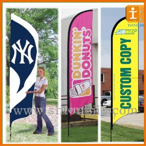 Outdoor Aluminum Standing Blade Feather Flag (TJ-80) pictures & photos