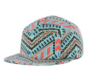 2017 Fashion 5 Panel Polyester/Cotton Camper Cap pictures & photos
