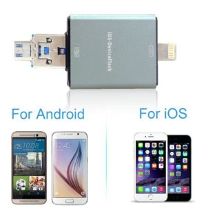 OTG Flash Driver, USB Driver Micro TF Card HD for for Apple iPhone or Samsung Mobile Phones