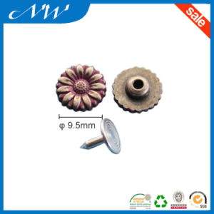 Flower Fashion Design Metal Alloy Rivet