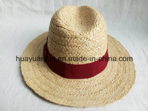 100% Raffia Straw with Bowknot Safari Hats pictures & photos