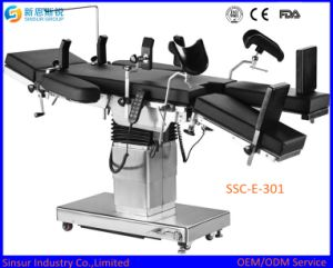 High Quality Radiolucent Hospital Ot Use Multi-Function Electric Operating Bed pictures & photos