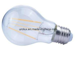 Dimmable A60 4W 400lm E27 LED Filament LED Bulb with CE RoHS Aproved