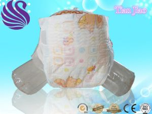 2017 Cheap Price PE Tape Print Cartoon Nice Baby Diaper pictures & photos