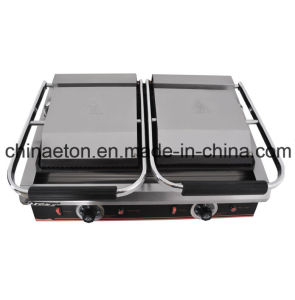 Double Electric Contact Grill with Falt (ET-YP-2A2) pictures & photos
