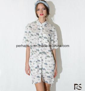 2016 Fashion Printing Shirt Dress Boutique Dress pictures & photos