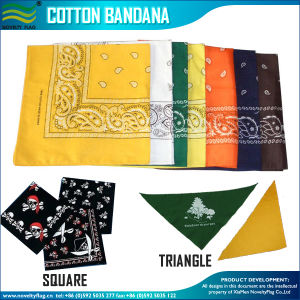 Wholesale Pricing Customized Traditional Paisley Printing Square Cotton Bandana pictures & photos