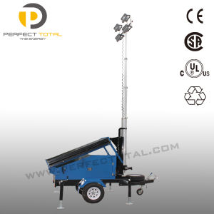 LED Mounted Trailer Solar Tower Light (SDE840-4L) pictures & photos