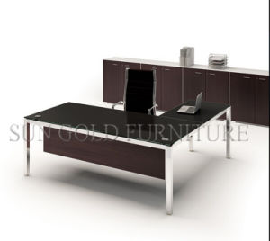 Modern Metal Table Leg Types 1.6m Glass Office Table (SZ-OD492) pictures & photos