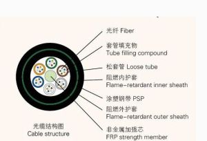 Fire Resistant Central Loose Tube Fiber Optic Cable Gjfzy53 pictures & photos