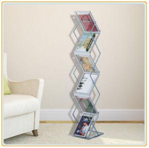Folding A3 Zigzag Literature Stand Metal Magazine Holder pictures & photos