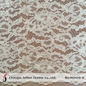 French Lace Fabric for Bridal Dresses (M3435-G) pictures & photos