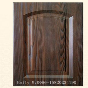 18mm Wooden Grain PVC Kitchen Cabinet Door pictures & photos