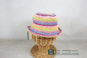 Paper Straw Cap for Kids (XH-PA2137) pictures & photos