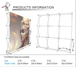 Hook & Loop Fabric Banner Stand Advertising Pop up Display Stands (LT-09L2-A) pictures & photos