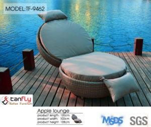 Top Sale Outdoor Patio Rattan Wicker Apple Shape Sun Bed pictures & photos