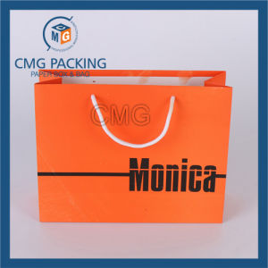 Orange Paper Gift Bag with Matt Lamination pictures & photos