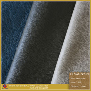 Embossed Furniture Sofa PU Leather (SF001) pictures & photos