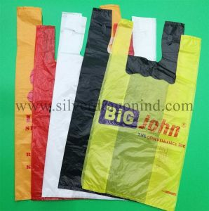 Custom Heavy Duty HDPE T-Shirt Bags for Grocery pictures & photos