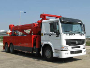 Top Quality HOWO Road Rescue Tow Truck with Tow Crane pictures & photos