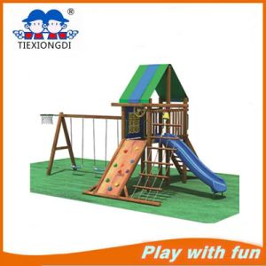2016 New Design Popular Children Wood Playground pictures & photos