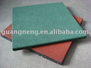 Colorful Rubber Flooring Tile, Sports Square Rubber Tiles pictures & photos