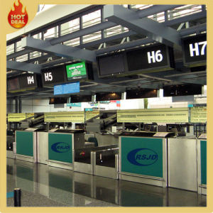 Departure Airport Passenger Luggage Check-in Ticket Counter pictures & photos